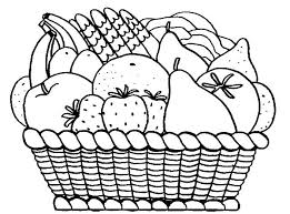Coloring Pages Of Fruits Coloring Pages For Fruits Basket Coloring