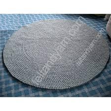 grey round rug cm friar gray color felt ball ikea for ideas 5