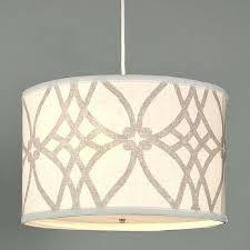 hanging drum light fabric pendant lighting