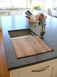 Cutting Kitchen Cabinets Impressive Prep Sink On Island With A Builtin Cutting Board This Is Genius I
