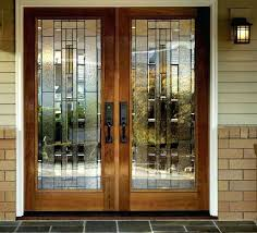 metal frame glass door doors double front with modern solid wood entry