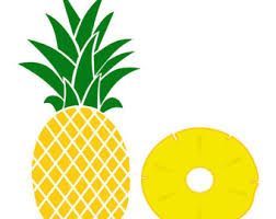 pineapple slice png. pineapple and a slice clip art set, summer, tropical, illustration, png png