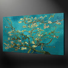 almond tree van gogh regarding to large canvas teal wall art view 4 of 10 on canvas wall art large uk with 10 best collection of oversized teal canvas wall art