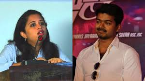 tamil actor vijay asks fans to stop abusing journalist who pared his jab harry
