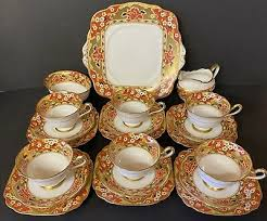 ROYAL ALBERT RAINBOW 21 Piece Tea Set - £137.00 | PicClick UK