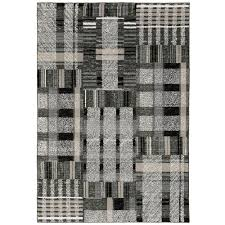 Unbranded Audrey Black/Grey 5 ft. x 7 ft. Geometric Area Rug-000864 - The  Home Depot