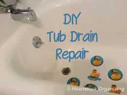 bathtub drain plug diy