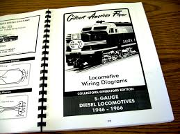 gilbert american flyer locomotive wiring diagrams reference book this photo shows the cover page of the diesel locomotives wiring diagrams section