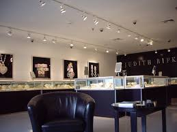 fantastic track lighting and glass display cases using chic led strip lighting for modern jewelry design
