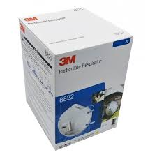 3M 8822 Respirator P2 Valved <b>Face</b> Masks - Pack of <b>10 Pcs</b>