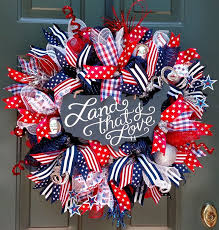 patriotic wreaths for front doorBest 25 4th of july wreath ideas on Pinterest  Flag wreath 4th