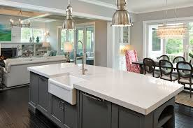 view larger image white quartz counters in modern country kitchen