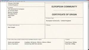 Certificate Of Origin Template Uk Certificate Of Origin Template Uk
