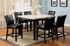 our best dining room bar furniture deals elgin off white square counter table set see more square marble table