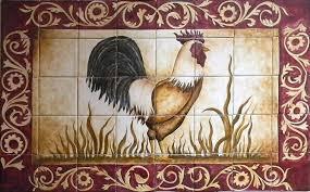 custom made ceramic tile hand painted mural for kitchen