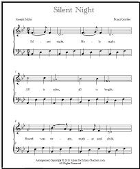sheet music silent night silent night sheet music piano arrangements free