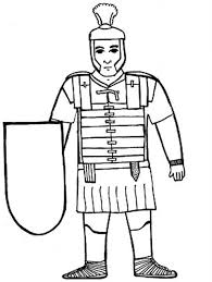 A Kids Drawing Of Ancient Rome Soldier Coloring Page Netart