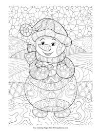 Snowman isn't very difficult to color because of the backdrop and of course the white snow that is used to build one. Zentangle Snowman Coloring Page Free Printable Pdf From Primarygames