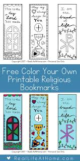 We have a great set of printable alphabet charts you can use in your classroom. Free Color Your Own Printable Religious Bookmarks For Children And Adults