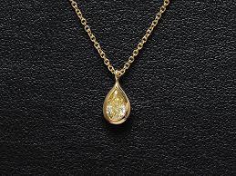 tiffany visor yard pair shape diamond necklace k18yg yellow gold necklace