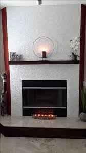 stunning white square groutless pearl s tile fireplace surround and mantel wall s