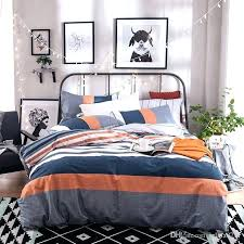 navy and orange bedding spring summer urban simple style stripe duvet cover sets blue baby color