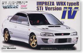 subaru impreza 2door coupe wrx type r sti version iv model car