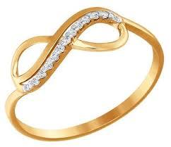 <b>SOKOLOV Кольцо</b> бесконечность из <b>золота</b> с фианитами 016622 ...
