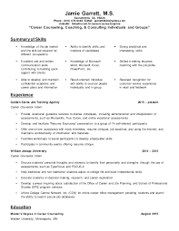 career counseling resume vocational counselor resume