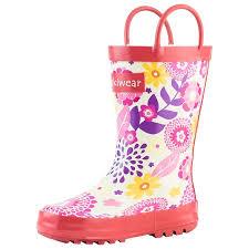 Oakiwear Rain Boots Size Chart Oakiwear Kids Rain Boots For Boys Girls Toddlers Children Pink Flowers