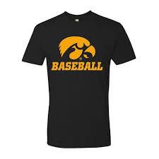 Baseball Basic Iowa Hawkeyes Baseball Basic Logo Tee Black
