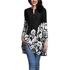 Women S Plus Size Measurement Chart Vermers Women Plus Size T Shirt Women Casual Floral Print V Neck Blouse Fashion Long Sleeve Button Tops