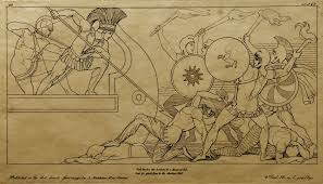 john flaxman s drawing of a scene from homer s iliad drawn in 1795 neoclicism