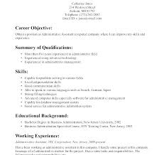 Business Management Resume Objective Examples Resume Objective