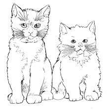 Disegno Gatto Da Coloraredisegno Micio Da Coloraremicetti Da Co
