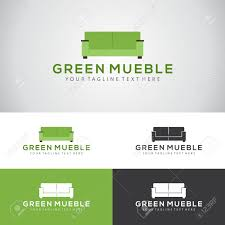 sofa furniture manufacturers. Green Mueble Logo Design With A Sofa Set For Furniture Manufacturers Or Interior Companies Stock V