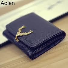 aolen las leather wallets bags women messenger luxury brand designer purse zipper 2016 famous large short wallet womens fashion personal