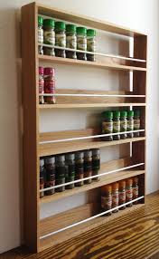 Small Picture SOLID OAK SPICE RACK 5 SHELVES KITCHEN WORKTOP WALL MOUNTED WOODEN