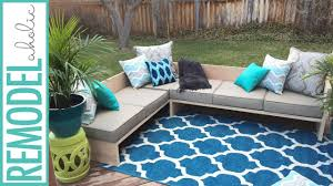 modern outdoor sectional. DIY Modern Outdoor Sofa Sectional | #plywoodpretty