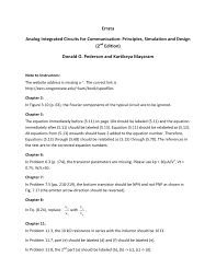 Analog Integrated Circuits For Communication Principles Simulation And Design Errata Pederson And Mayaram Analog Integrated Circuits For
