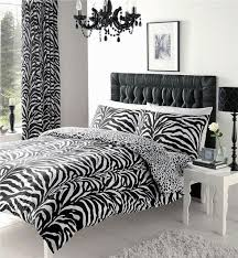 Plain Black And White Curtains Zebra Leopard Print On Design Ideas