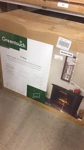 green touch rolling mantel electric fire place