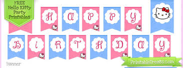hello kitty birthday party printables hello kitty birthday party printables printable treats com
