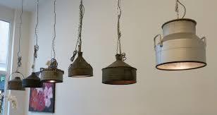 Industriële Hanglampen Van Zinken Vaten