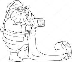 Santa Claus Leesbewerkingen Van Kerst Lijst Kleurplaten Pagina