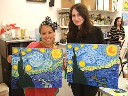 byob painting nyc williamsburg art scene ob painting class alina guzman alina photos