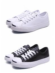 converse jackpurcell classic low cut casual canvas leather shoes