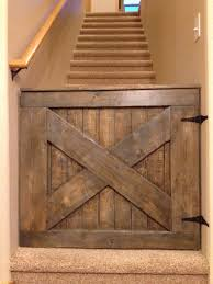 custom barn door babydog gate from the pink moose i love this handmade wooden baby gate pet gate14