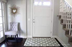 Fascinating Home Interior Decorating With Entryway Rug Ideas: Pattern Entryway  Rug Ideas With White Door