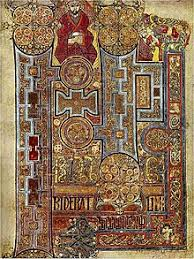 the book of kells folio 292r circa 800 showing the lavishly decorated text that opens the gospel of john